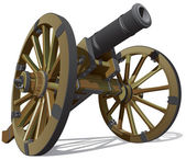 Old field gun — Stock Vector