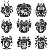 Set of heraldic silhouettes No4 — Stock Vector