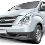Korean light commercial vehicle — Stock Vector