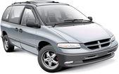 American family minivan — Stock Vector