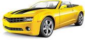 American muscle car convertible — Stock Vector