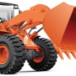 Orange front-end loader — Stock Vector #42048007