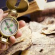 Compass in hand — Stock Photo #1492656