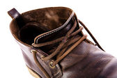 Old fashioned brown boots — 图库照片