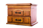 Wooden casket for jewelry — Stockfoto