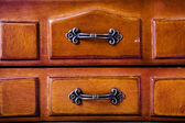 Box with copper handle — Stockfoto