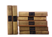 Old books in stack — Stock Photo