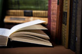 Open book in  Library — Stock Photo