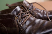 Old brown boots — Stock Photo