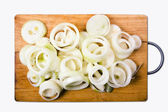 Onion isolated with clipping path — Stock Photo