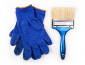 Protective clothing and brush  — Stock Photo