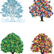 4 seasons — Stock Vector