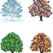 Stock Vector: 4 seasons