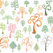 Stock Vector: Curly trees