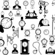 Stock Vector: Clocks and watches