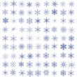 Stock Vector: 99 Snowflakes