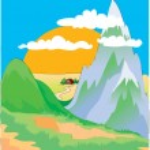 Colored vector landscape — Stock Vector #33244907