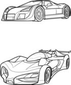 Outline drawing car. — Vecteur