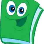 Jolly green book — Stock Vector