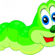 Small green caterpillar — Stock Vector