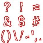Red symbols — Stock Photo #11451673