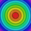 Radial rainbow — Stock Photo