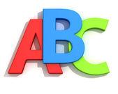 Letras abc — Foto Stock