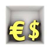 Dollar and euro — Foto de Stock