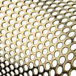 Stock Photo: Perforated metal pattern