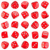 Red dice icons — Stock Photo