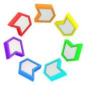 Regenboog pijlen — Stockfoto