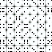 White dice background — Stock Photo