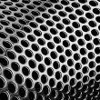 Perforated cylindrical pattern — 图库照片