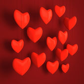 Red hearts design — Stock Photo