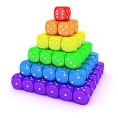 骰子从频谱金字塔 — 图库照片