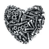 Iron heart — Stock Photo