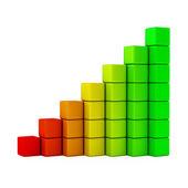 Gráfico de eficiencia energética — Foto de Stock