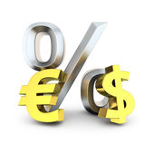 Dollar to euro exchange rate — Stock Photo