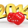 Dice break year 2014 — Stock Photo