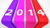 Colourful ribbons 2014 — Stock Photo