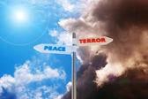 Frieden gegen terror — Stockfoto