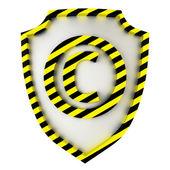 Copyright shield — Stock Photo