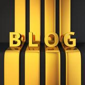 Blog headline — Stock Photo