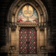 Gothic entrance — Stock Photo