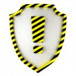 Attention shield — Stock Photo #26201389