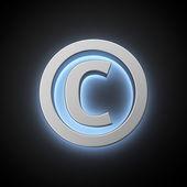 Luminous copyright sign — Stock Photo
