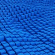 Blue mosaic surface — Stock Photo