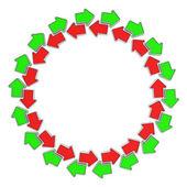 矢印の循環 — ストック写真