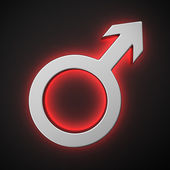 Male symbol — Stock Photo
