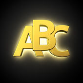 Luminous ABC — Stock Photo